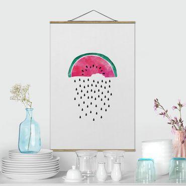 Foto su tessuto da parete con bastone - Pioggia di cocomeri - Verticale 2:3