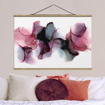 Foto su tessuto da parete con bastone - La via del vento in violetto e oro - Orizzontale 3:2