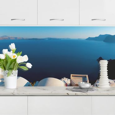 Rivestimento cucina - Vista panoramica di Oia