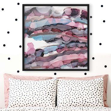Poster con cornice - Navigare in viola con oro rosa