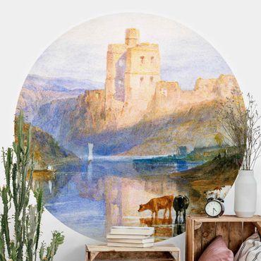 Carta da parati rotonda autoadesiva - William Turner - Castello di Norham