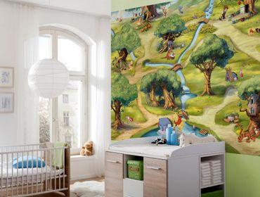 Carta da parati - Winnie the Pooh: bosco dei cento acri