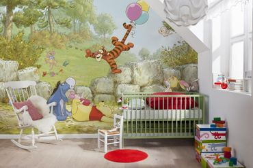 Carta da parati - Winnie the Pooh mongolfiera