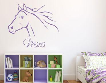 Adesivo murale con testo personalizzato - cavallo