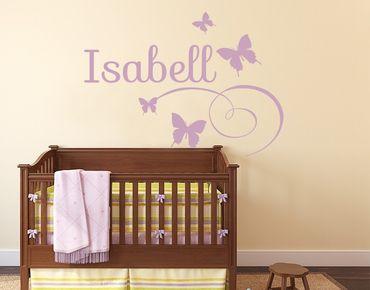 Adesivo murale con testo personalizzato - nome farfalla