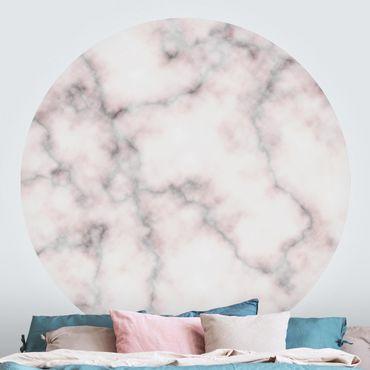 Carta da parati rotonda autoadesiva - sguardo di marmo delicata