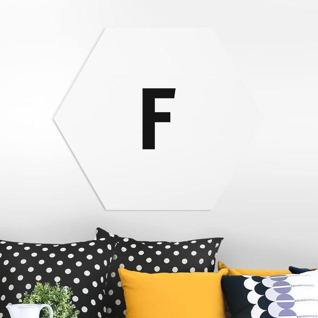 Esagono in forex - Lettera F Bianco