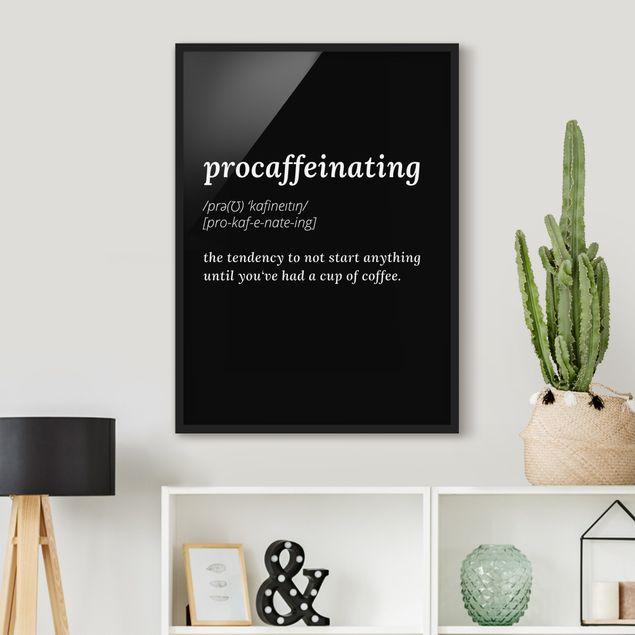 Poster con cornice - Procaffeinating - Verticale 4:3