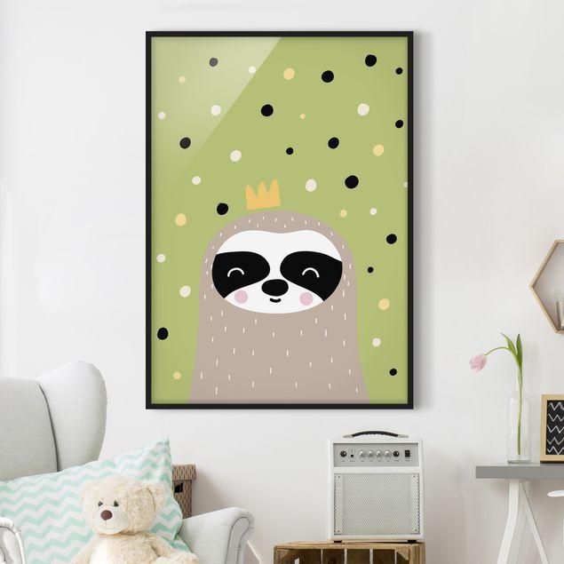 Poster con cornice - The Laziest Sloth - Verticale 4:3