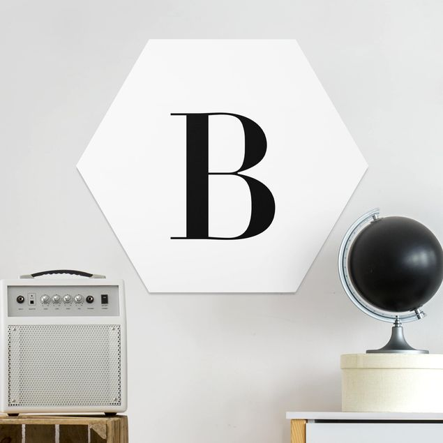 Esagono in forex - Lettera Serif Bianco B