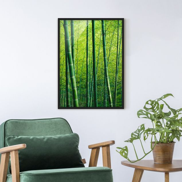 Poster con cornice - Bamboo Forest - Verticale 4:3