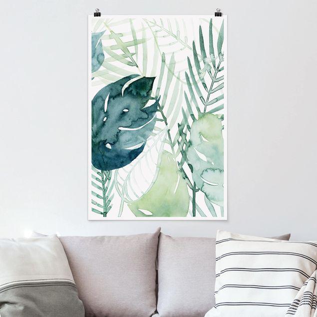 Poster - Palm Fronde in acquerello I - Verticale 3:2