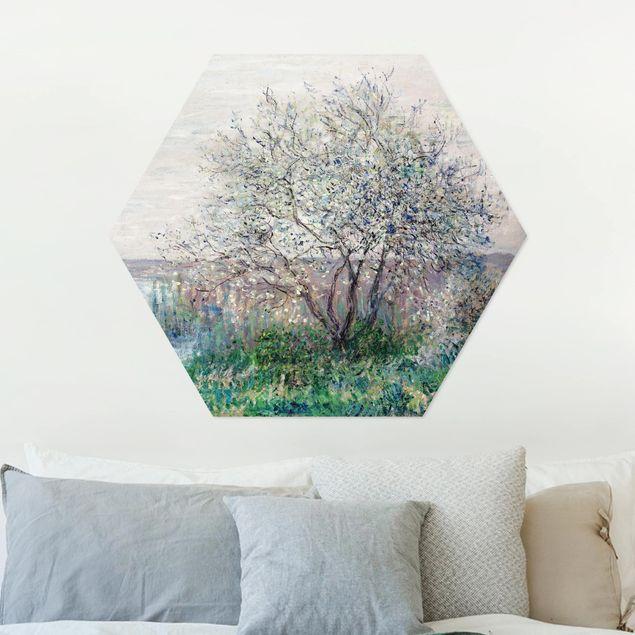 Esagono in Alu-dibond - Claude Monet - Primavera Mood