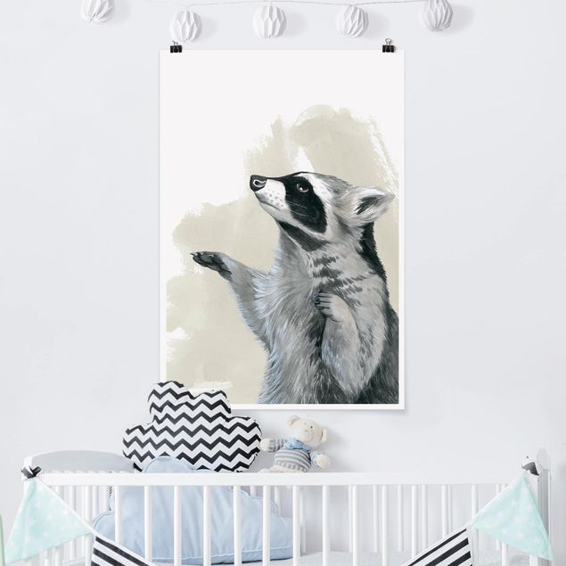 Poster - Forest Friends - Raccoon - Verticale 3:2