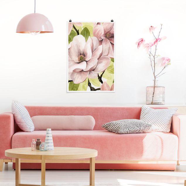 Poster - Magnolia Blush I - Verticale 3:2