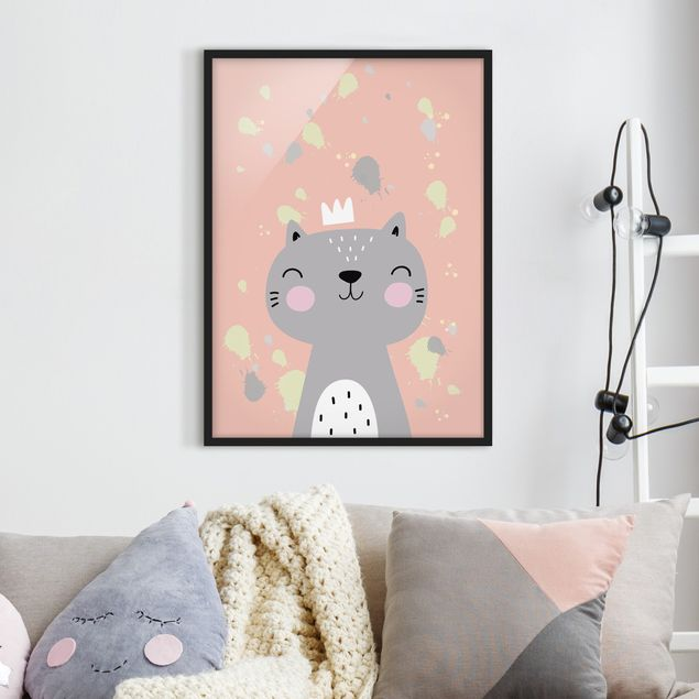 Poster con cornice - Naughty Cat - Verticale 4:3
