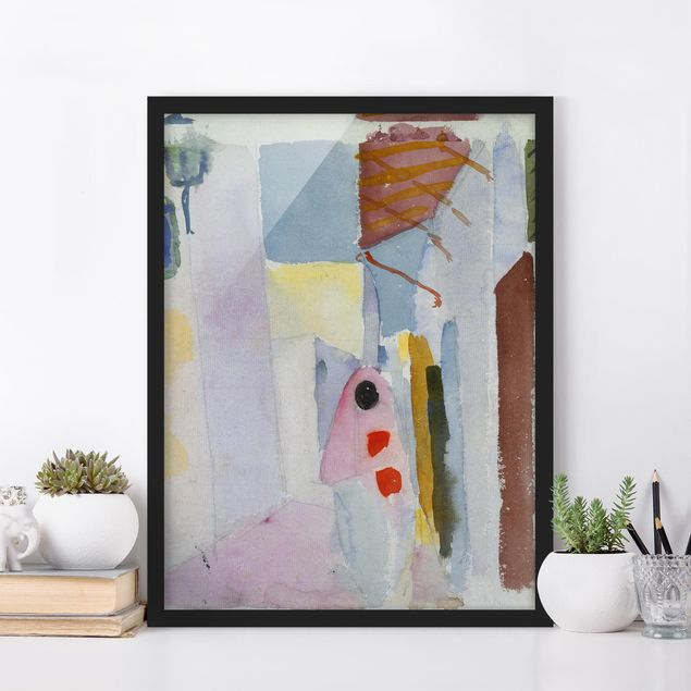 Poster con cornice - August Macke - Woman On The Street - Verticale 4:3