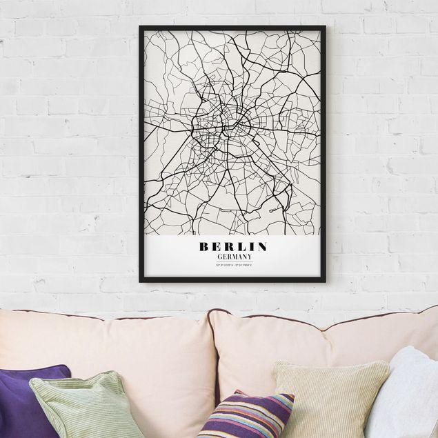 Poster con cornice - Berlin City Map - Classic - Verticale 4:3