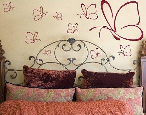 Adesivo murale no.13 ten butterflies