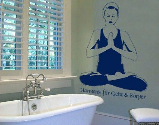 Adesivo murale no.BR120 yoga