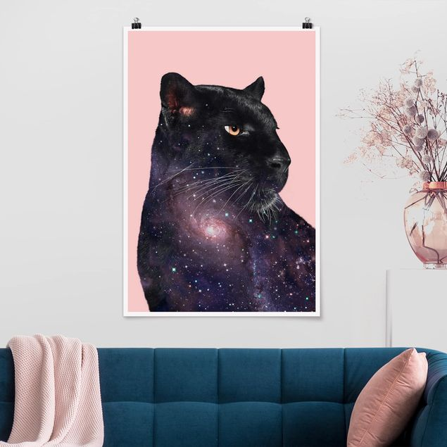 Poster - Jonas Loose - Panther Con Galaxy - Verticale 3:2