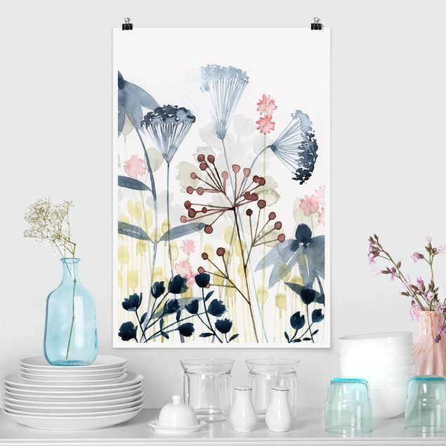 Poster - Wildflower Acquerello I - Verticale 3:2