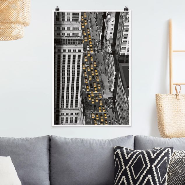 Poster - Taxi Traffico A Manhattan - Verticale 3:2