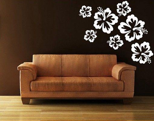 Adesivo murale no.71 Hibiscus