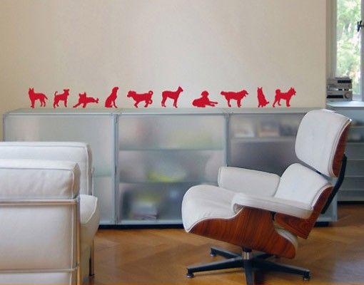 Adesivo murale no.91 ten dogs