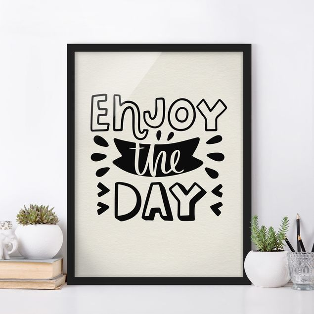Poster con cornice - Enjoy The Day - Verticale 4:3