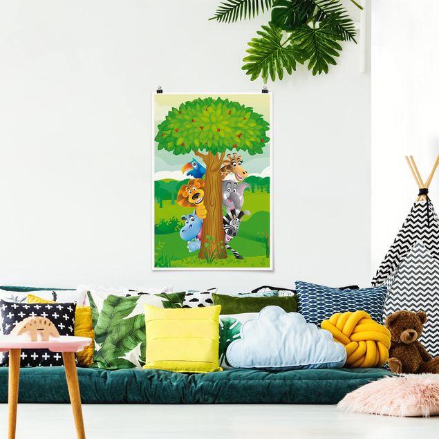 Poster - No.BF1 animali della giungla - Verticale 3:2