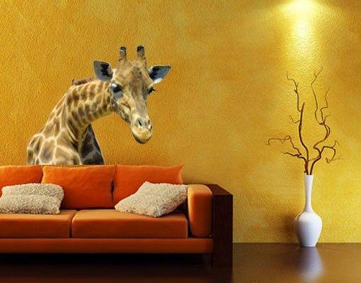 Adesivo murale no.21 Prying Giraffe