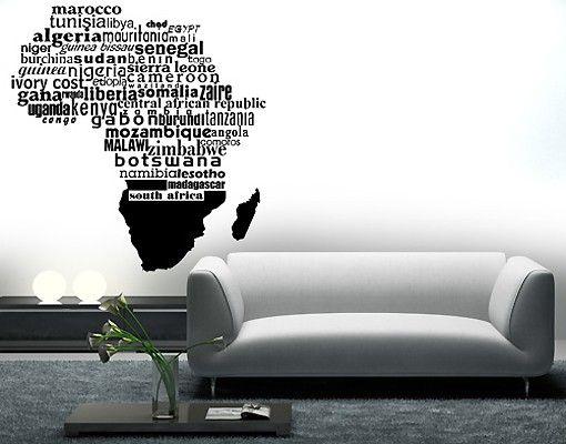 Adesivo murale No.363 Africa
