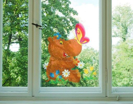 Adesivi da finestra no.46 Hippo