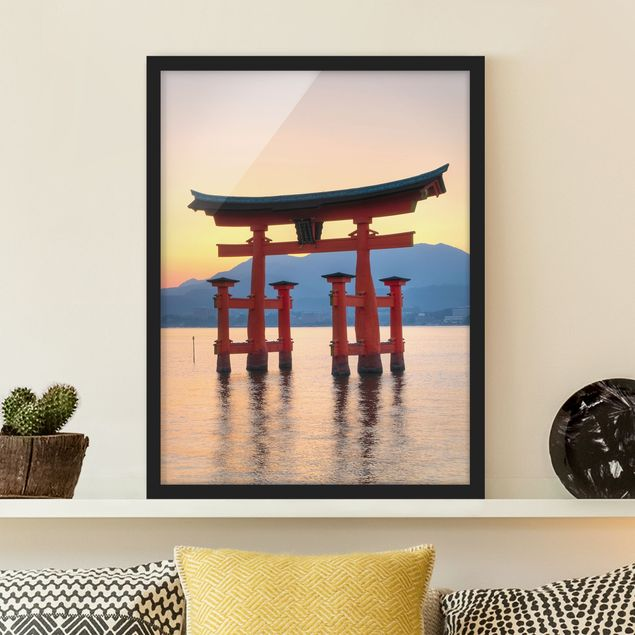Poster con cornice - Torii At Itsukushima - Verticale 4:3