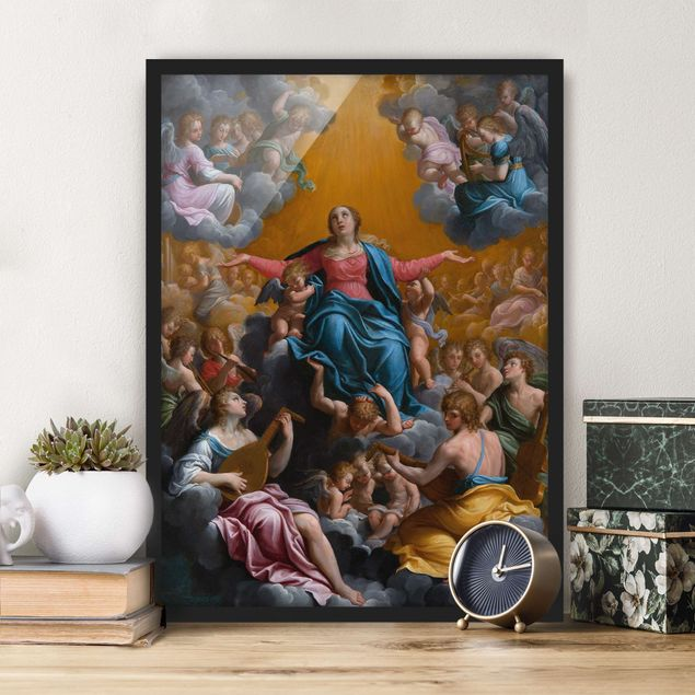 Poster con cornice - Guido Reni - The Assumption Of The Virgin Mary - Verticale 4:3