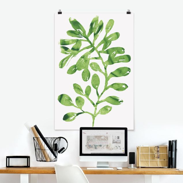Poster - Tropical Leaves II Acquerello - Verticale 3:2