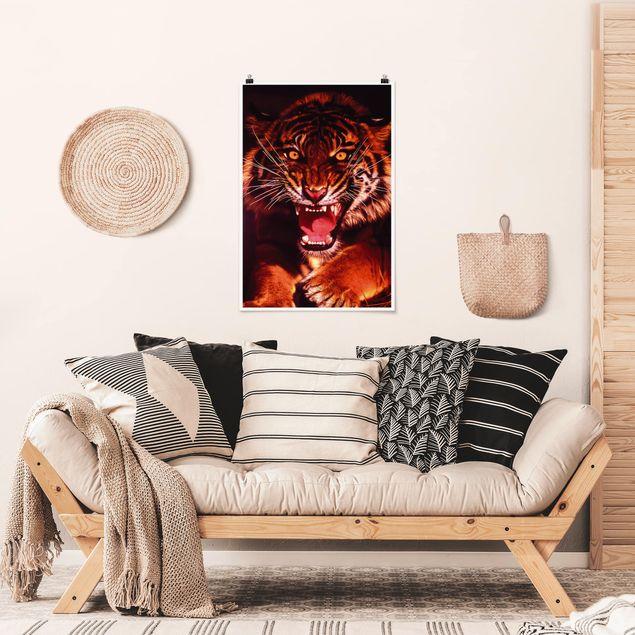 Poster - Tiger Wild - Verticale 3:2