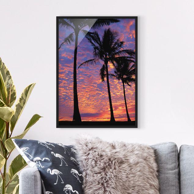 Poster con cornice - Palms - Verticale 4:3