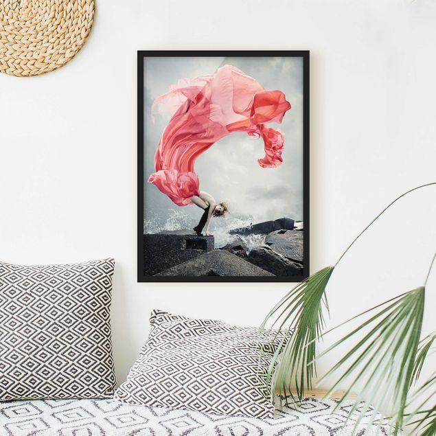 Poster con cornice - Woman At The Sea - Verticale 4:3