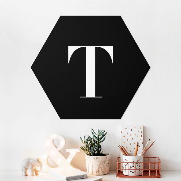 Esagono in forex - Lettera Serif Black T