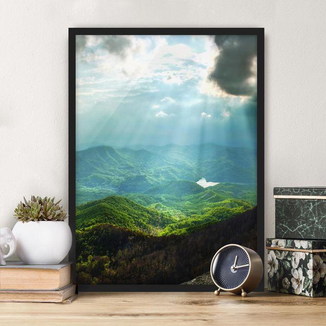 Poster con cornice - Heavenly Ground - Verticale 4:3