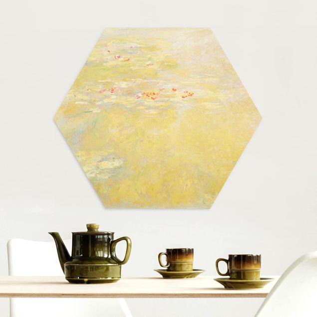 Esagono in Alu-dibond - Claude Monet - Laghetto delle ninfee