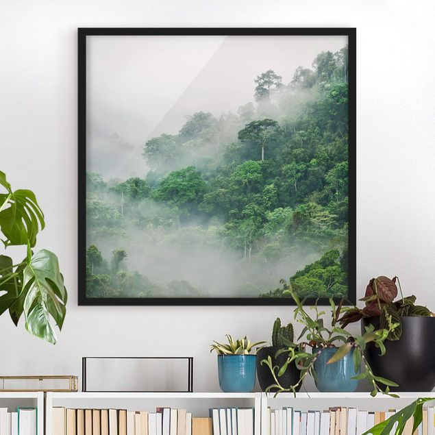 Poster con cornice - Jungle In The Fog - Quadrato 1:1