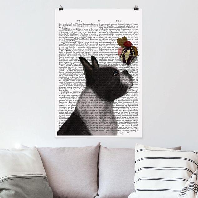 Poster - Reading Animal - Terrier Con Ghiaccio - Verticale 3:2