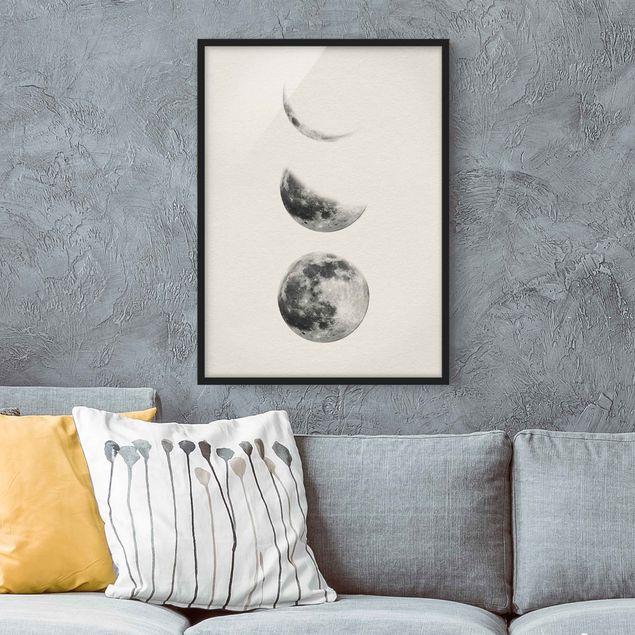 Poster con cornice - Three Moons - Verticale 4:3