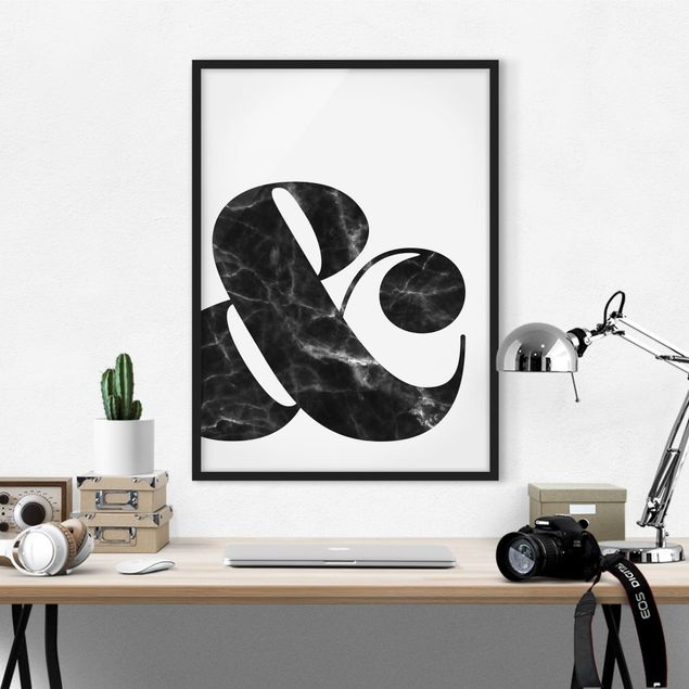 Poster con cornice - Ampersand Marble - Verticale 4:3