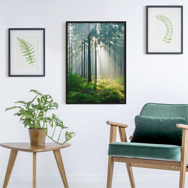 Poster con cornice - Enlightened Forest - Verticale 4:3