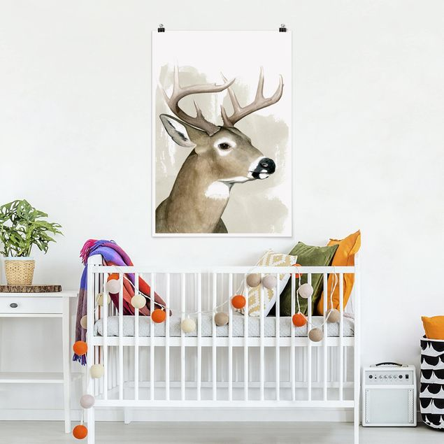 Poster - Forest Friends - Deer - Verticale 3:2