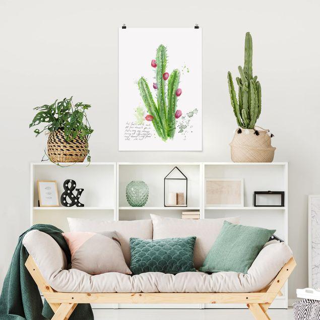 Poster - Cactus Con Bibellvers II - Verticale 3:2